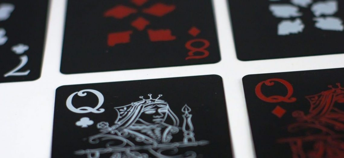 close up poker cards